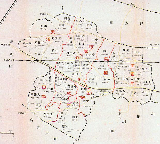 昭和初期の杉並町(現 杉並区)にあった地名 - XWIN II Weblog