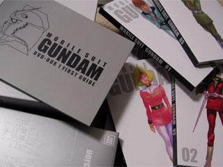 起動戦士ガンダムDVD-BOX 1初回限定版の中身。