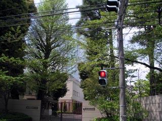 名門 東京英和女学院小学校の正門。とてもきれいだ。