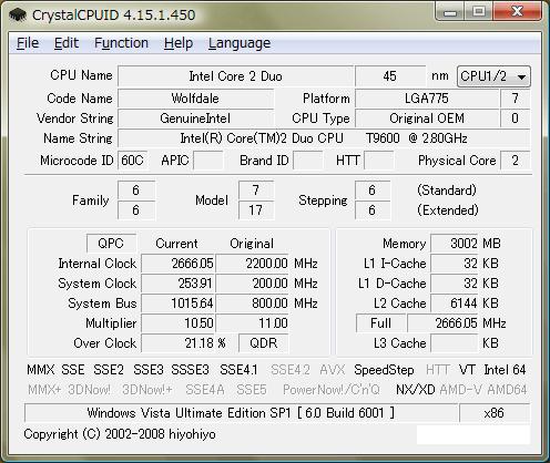 CrystalCPUID 4.15.1.450(一部表示改変)